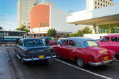 And traffic in downtown Havana — Stock Photo