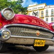 Shiny red 1957 Buick in Havana — Stock Photo #17647867