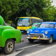 Classic Chevrolet in a street in Cuba — Stock Photo #17647875