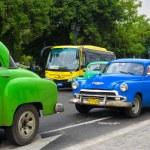 Classic Chevrolet in a street in Cuba — Stock Photo