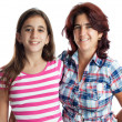 Stock Photo: Hispanic woman and her teenage daughter