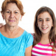 Portrait of an hispanic grandmother and granddaughter — Stock Photo #18568859