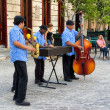 Traditional music group playing in Old Havana - Stock Photo