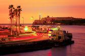 красочный закат в гаване — Стоковое фото