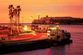 Pôr do sol colorido em havana — Foto Stock