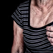 Woman suffering from chest pain — Stock Photo