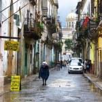 ve staré čtvrti v Havaně kubánská — Stock fotografie