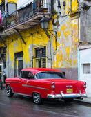 Autos antiguos americanas en la habana — Foto de Stock