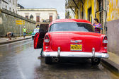 Classic american car in Old Havana — Stock Photo