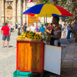 Stall selling tropical fruits to tourists in Havana - Stock Photo