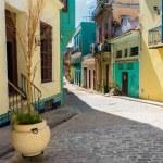 Colorful street in Old Havana — Stock Photo