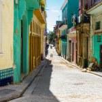 Colorful street in Old Havana — Stock Photo #21584751