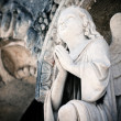 Beautiful angel praying — Stock Photo