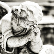 Beautiful vintage angel on a cemetery — Stock Photo