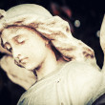 Sad and beautiful angel — Stock Photo