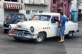 Old Buick used as a taxi in Havana — Stock Photo