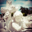 Stock Photo: Infant angel on cemetery