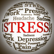 Stress related text arrangement — Stock Photo