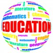 Education related word cloud - Stock Photo