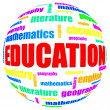 Education related word cloud — Stock Photo
