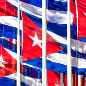 Cuban flags — Stock Photo