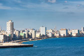 The Havana skyline facing the sea — Foto de Stock