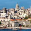 View of Havana featuring several  landmarks - Stock Photo