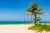 The tropical beach of Varadero in Cuba — Stock Photo