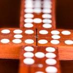 Matching domino tiles — Stock Photo