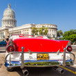 Stock Photo: Classic Ford near the Capitol in Havana