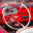Interior view of a well restored vintage Ford — Stock Photo