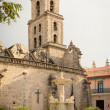 Stock Photo: SFrancisco Church and Square in Old Havana