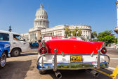 Vintage Ford near the Capitol in Havana — Stock Photo