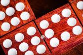 Macro image of domino tiles — Stock Photo