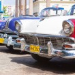 Classic Ford and other vintage cars in Havana — Stock Photo