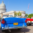 Antique convertible Ford near the Capitol in Havana — Stock Photo