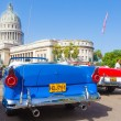 Antique convertible Ford near the Capitol in Havana — Stock Photo #27267461