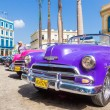Several classic american cars in Havana — 图库照片