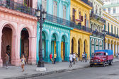 Typical street scene in Old Havana — Stock Photo