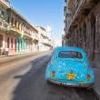 Classic vintage car in a street in Havana — Stock Photo #27959919