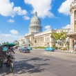 Street scene in Havana near the Capitol — Stock Photo