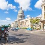 Straßenszene in Havanna in der Nähe des Kapitols — Stockfoto