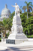 The Jose Marti monument on the Central Park of Havana — Stock Photo