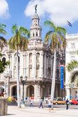 Street scene near the Great Theater of Havana — Stock Photo