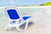 Beach bed in the beach of Coco Key in Cuba — Stock Photo