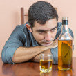Drunk and depressed young man — Stock Photo