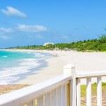 Varadero beach in Cuba seen from a balcony — Stock Photo