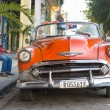 Stock Photo: Old american car in Cuba
