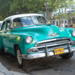 Old american car in a famous street in Havana — Stock Photo #31272173