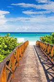 Walkway leading to the beach of Vara — Stock Photo